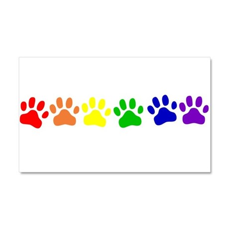 Rainbow Paws Car Magnet 20 x 12