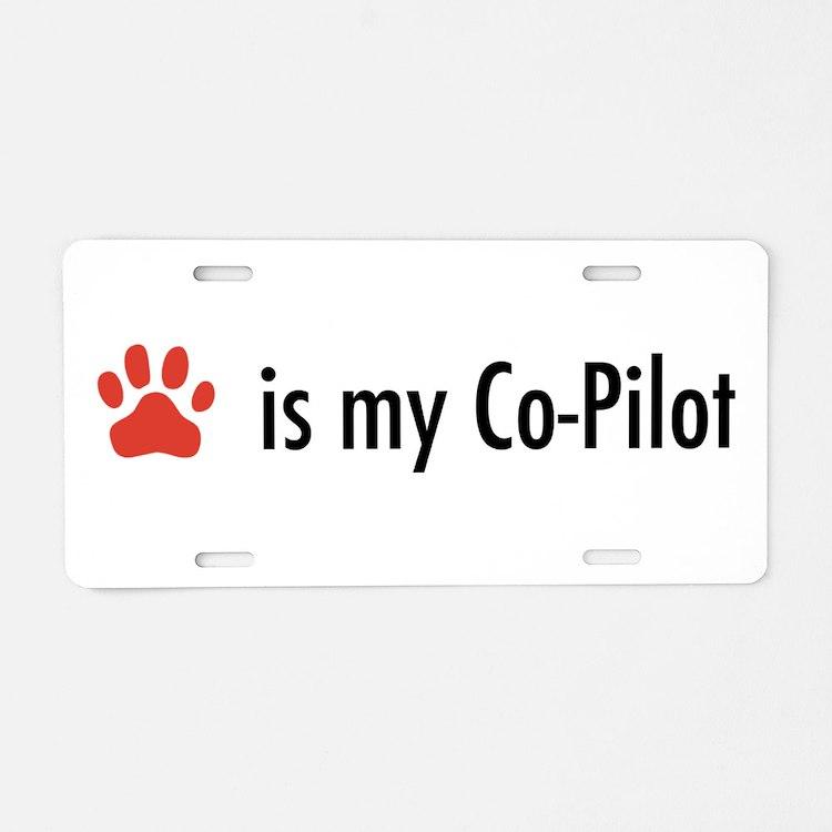 dog is my copilot license plates dog is my copilot front. Black Bedroom Furniture Sets. Home Design Ideas