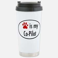 Dog is my Co-Pilot Stainless Steel Travel Mug