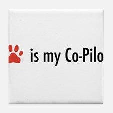 Dog is my Co-Pilot Tile Coaster