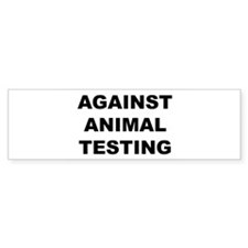 Against Animal Testing Car Sticker