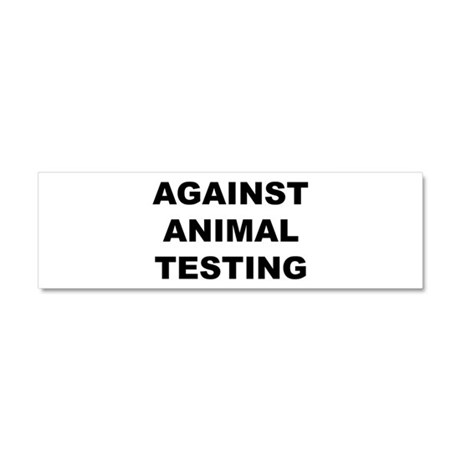 Against Animal Testing Car Magnet 10 x 3