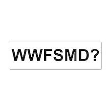 WWFSMD? Car Magnet 10 x 3
