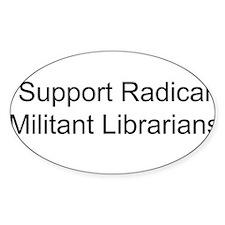 Cute Militant librarian Decal
