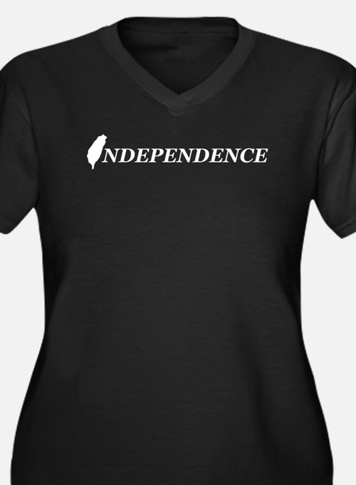 Taiwan Independence Women's Plus Size V-Neck Dark