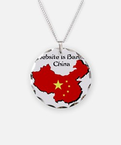 My Website is Banned in China Necklace