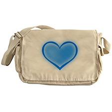 Blue Heart Messenger Bag
