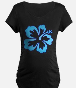 Blue Surf Flowers T-Shirt