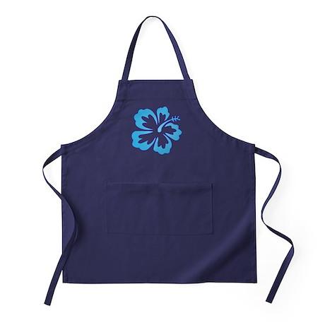 Blue Surf Flowers Apron (dark)