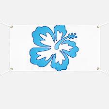 Blue Surf Flowers Banner