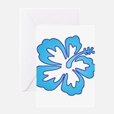 Blue Surf Flowers Greeting Card