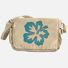 Blue Surf Flowers Messenger Bag