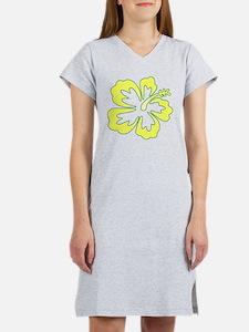 Surf Flowers (Yellow and Gree Women's Nightshirt