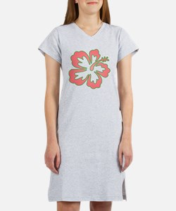 Surf Flowers (Pink and Green) Women's Nightshirt