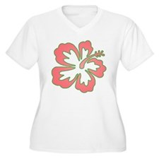 Surf Flowers (Pink and Green) T-Shirt