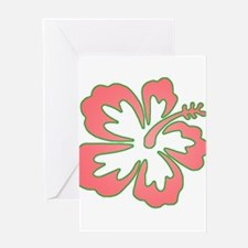 Surf Flowers (Pink and Green) Greeting Card