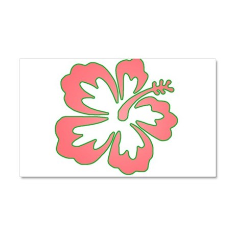 Surf Flowers (Pink and Green) Car Magnet 20 x 12