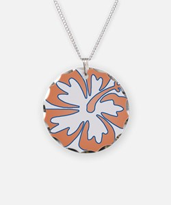 Surf Flowers (Orange and Blue Necklace