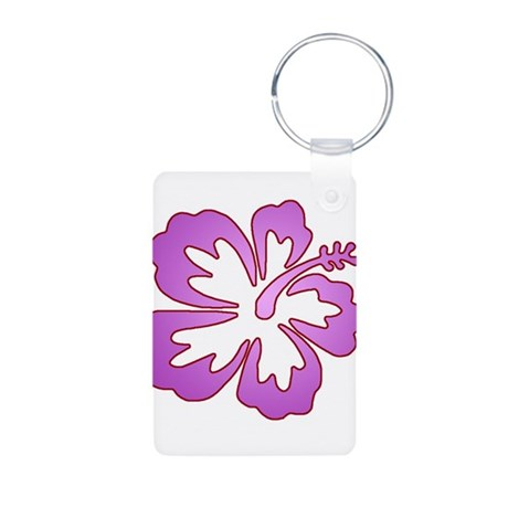 Surf Flowers (Purple with Red Aluminum Photo Keych