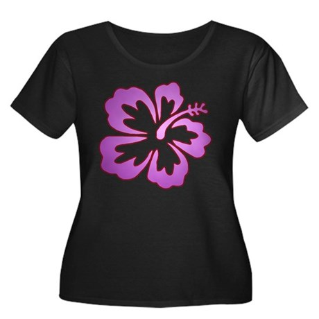 Surf Flowers (Purple with Red Women's Plus Size Sc
