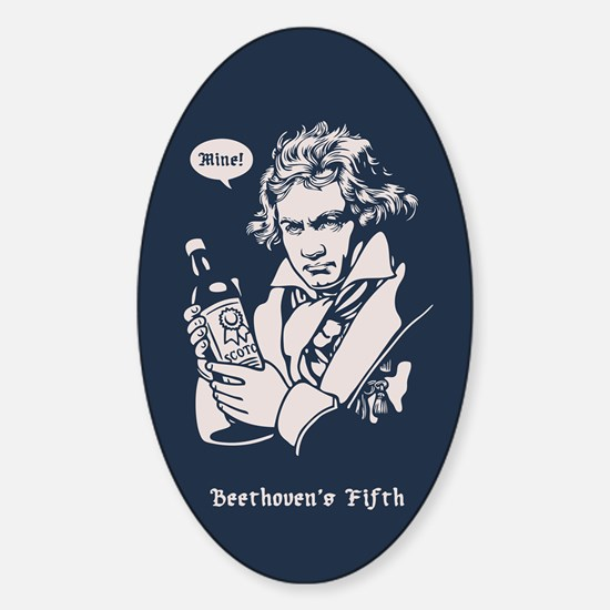 Beethoven's Fifth Sticker (Oval)
