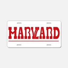 Maryland-Harvard Aluminum License Plate