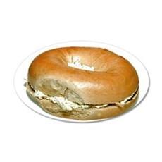 Bagel and Cream Cheese Wall Decal