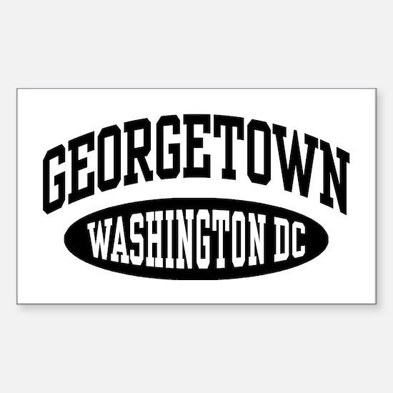 Georgetown Washington DC Sticker (Rectangle)