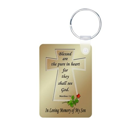 In Loving Memory of My Son Aluminum Photo Keychain