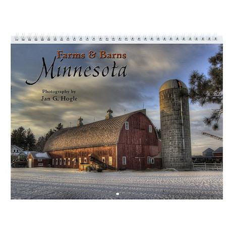 Farms And Barns Minnesota Wall Calendar