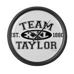 Team Taylor XXL - LDS T-Shirt Large Wall Clock