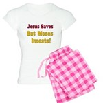 Jesus Saves but Moses Invests Women's Light Pajama