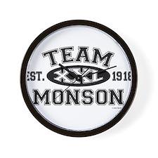 Team Monson XXL - LDS T-Shirt Wall Clock