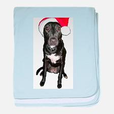 Santa Dog baby blanket