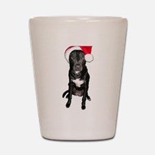 Santa Dog Shot Glass
