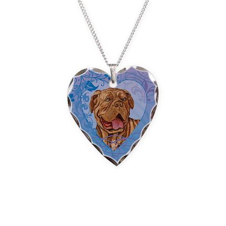 Dogue de Bordeaux Necklace Heart Charm