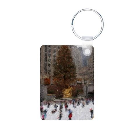 Rockefeller Center Tree Aluminum Photo Keychain