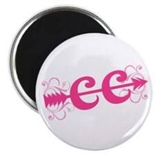 """Pink CC Cross Country 2.25"""" Magnet (100 pack)"""