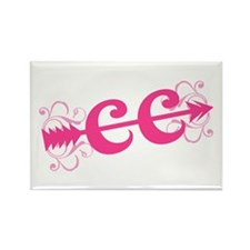 Pink CC Cross Country Rectangle Magnet (100 pack)