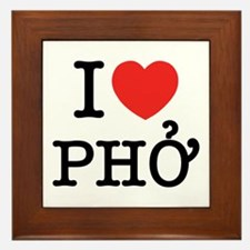 I Love (Heart) Pho Framed Tile