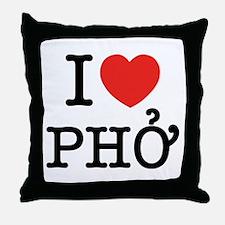 I Love (Heart) Pho Throw Pillow
