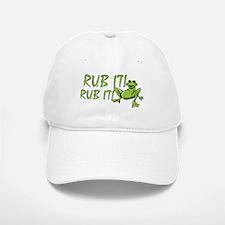 Rub it Frog Baseball Baseball Cap