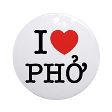 I Love (Heart) Pho Ornament (Round)