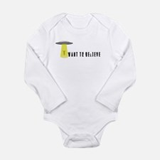 I Want To Believe Long Sleeve Infant Bodysuit
