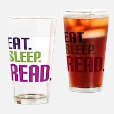 Cool Eat sleep read Drinking Glass