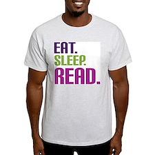 Funny Eat sleep read T-Shirt