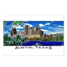 Austin, Texas Skyline Postcards (Package of 8)