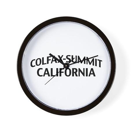 Colfax-Summit California Wall Clock