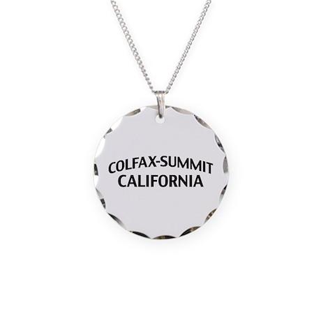 Colfax-Summit California Necklace Circle Charm