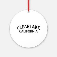 Clearlake California Ornament (Round)